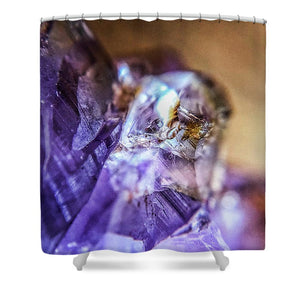 Crystals And Stones Amethyst 4628 - Shower Curtain - Jani Bryson Intuitive Photographer