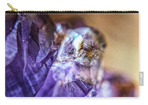 Crystals And Stones Amethyst 4628 - Carry-All Pouch - Jani Bryson Intuitive Photographer