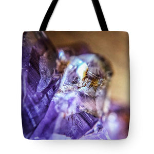 Crystals And Stones Amethyst 4628 - Tote Bag - Jani Bryson Intuitive Photographer
