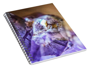 Crystals And Stones Amethyst 4628 - Spiral Notebook - Jani Bryson Intuitive Photographer