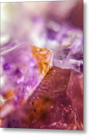 Crystals And Stones Amethyst 4632 - Metal Print - Jani Bryson Intuitive Photographer
