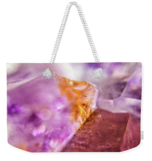 Crystals And Stones Amethyst 4632 - Weekender Tote Bag - Jani Bryson Intuitive Photographer