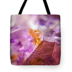 Crystals And Stones Amethyst 4632 - Tote Bag - Jani Bryson Intuitive Photographer