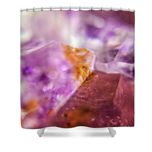 Crystals And Stones Amethyst 4632 - Shower Curtain - Jani Bryson Intuitive Photographer