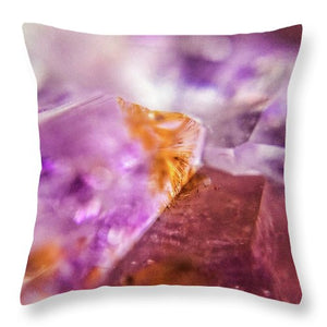 Crystals And Stones Amethyst 4632 - Throw Pillow - Jani Bryson Intuitive Photographer