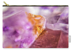 Crystals And Stones Amethyst 4632 - Carry-All Pouch - Jani Bryson Intuitive Photographer