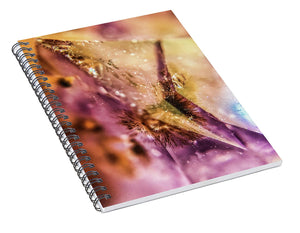 Crystals And Stones Amethyst 4636 - Spiral Notebook