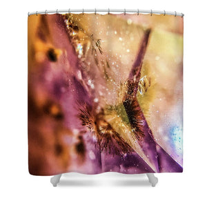 Crystals And Stones Amethyst 4636 - Shower Curtain