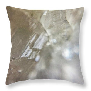 Crystals And Stones Apophyllite 5153 - Throw Pillow - Jani Bryson Intuitive Photographer