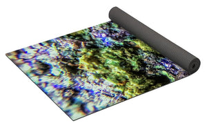 Crystals And Stones Azurite And Malachite 3231 - Yoga Mat - Jani Bryson Intuitive Photographer