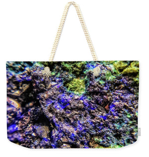 Crystals And Stones Azurite And Malachite 3231 - Weekender Tote Bag - Jani Bryson Intuitive Photographer