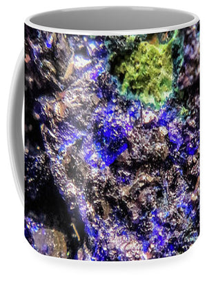 Crystals And Stones Azurite And Malachite 3231 - Mug - Jani Bryson Intuitive Photographer