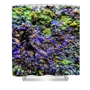 Crystals And Stones Azurite And Malachite 3231 - Shower Curtain - Jani Bryson Intuitive Photographer