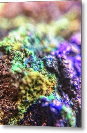 Crystals And Stones Azurite And Malachite 3318  - Metal Print - Jani Bryson Intuitive Photographer