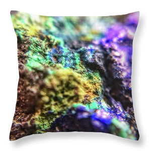 Crystals And Stones Azurite And Malachite 3318  - Throw Pillow