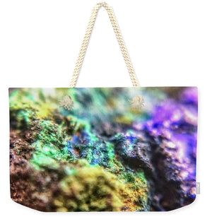 Crystals And Stones Azurite And Malachite 3318  - Weekender Tote Bag - Jani Bryson Intuitive Photographer