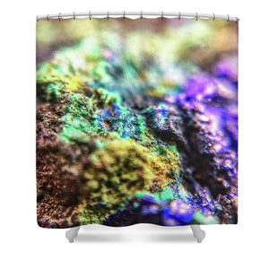 Crystals And Stones Azurite And Malachite 3318  - Shower Curtain