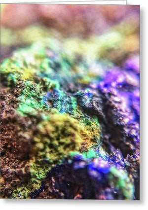 Crystals And Stones Azurite And Malachite 3318  - Greeting Card - Jani Bryson Intuitive Photographer