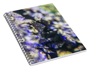 Crystals And Stones Azurite And Malachite 3728 - Spiral Notebook - Jani Bryson Intuitive Photographer