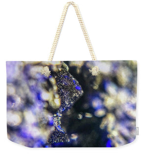 Crystals And Stones Azurite And Malachite 3728 - Weekender Tote Bag - Jani Bryson Intuitive Photographer