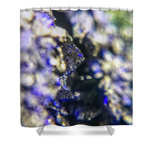 Crystals And Stones Azurite And Malachite 3728 - Shower Curtain - Jani Bryson Intuitive Photographer