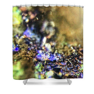 Crystals And Stones Azurite And Malachite 3786 - Shower Curtain - Jani Bryson Intuitive Photographer