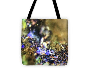 Crystals And Stones Azurite And Malachite 3786 - Tote Bag - Jani Bryson Intuitive Photographer