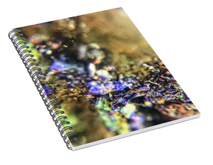 Crystals And Stones Azurite And Malachite 3786 - Spiral Notebook - Jani Bryson Intuitive Photographer