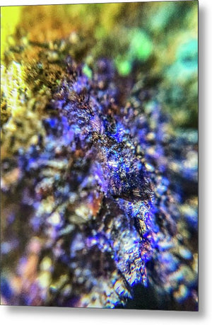 Crystals And Stones Azurite And Malachite 3991 - Metal Print - Jani Bryson Intuitive Photographer