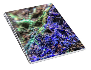 Crystals And Stones Azurite And Malachite - Spiral Notebook - Jani Bryson Intuitive Photographer