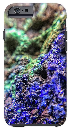 Crystals And Stones Azurite And Malachite - Phone Case - Jani Bryson Intuitive Photographer