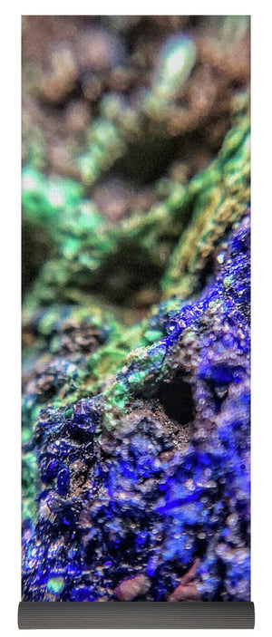 Crystals And Stones Azurite And Malachite - Yoga Mat - Jani Bryson Intuitive Photographer