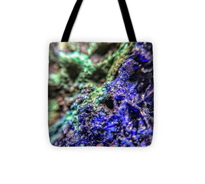 Crystals And Stones Azurite And Malachite - Tote Bag - Jani Bryson Intuitive Photographer