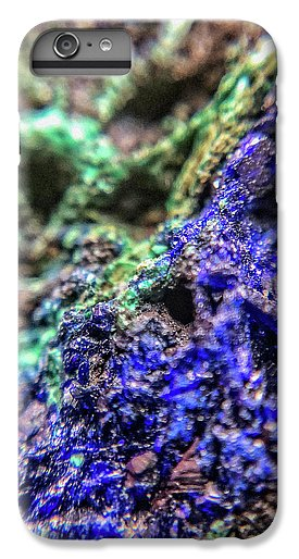 Crystals And Stones Azurite And Malachite - Phone Case