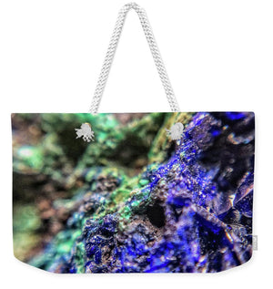 Crystals And Stones Azurite And Malachite - Weekender Tote Bag - Jani Bryson Intuitive Photographer