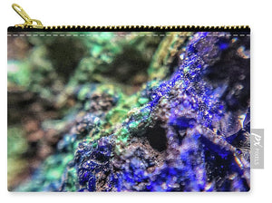 Crystals And Stones Azurite And Malachite - Carry-All Pouch - Jani Bryson Intuitive Photographer
