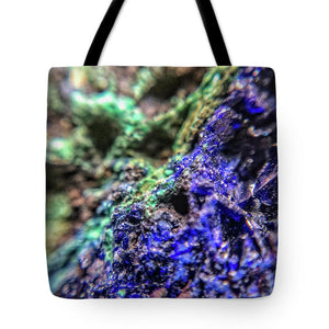 Crystals And Stones Azurite And Malachite - Tote Bag