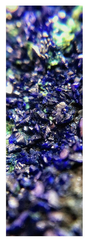 Crystals And Stones Azurite Malachite 3210 - Yoga Mat - Jani Bryson Intuitive Photographer