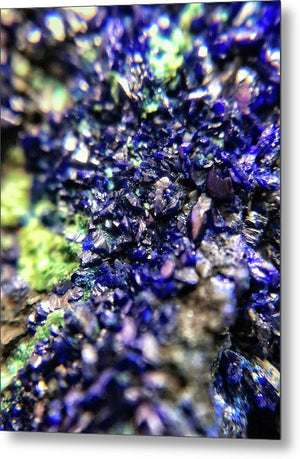Crystals And Stones Azurite Malachite 3210 - Metal Print - Jani Bryson Intuitive Photographer