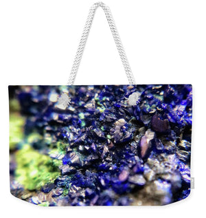 Crystals And Stones Azurite Malachite 3210 - Weekender Tote Bag - Jani Bryson Intuitive Photographer