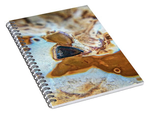 Crystals And Stones Banded Agate 2281  - Spiral Notebook - Jani Bryson Intuitive Photographer