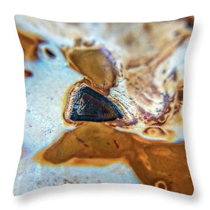 Crystals And Stones Banded Agate 2281  - Throw Pillow - Jani Bryson Intuitive Photographer