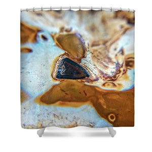 Crystals And Stones Banded Agate 2281  - Shower Curtain - Jani Bryson Intuitive Photographer