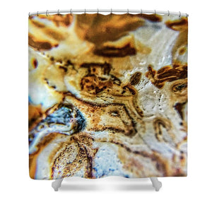 Crystals And Stones Banded Agate 2310 - Shower Curtain - Jani Bryson Intuitive Photographer
