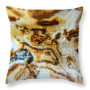 Crystals And Stones Banded Agate 2310 - Throw Pillow - Jani Bryson Intuitive Photographer