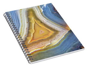 Crystals And Stones Banded Agate 2346 - Spiral Notebook - Jani Bryson Intuitive Photographer