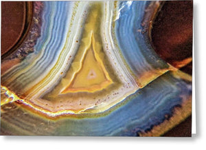Crystals And Stones Banded Agate 2346 - Greeting Card - Jani Bryson Intuitive Photographer