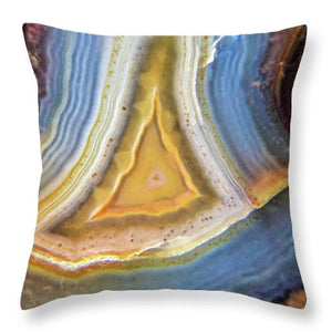 Crystals And Stones Banded Agate 2346 - Throw Pillow - Jani Bryson Intuitive Photographer