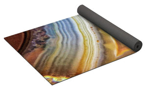 Crystals And Stones Banded Agate 2346 - Yoga Mat - Jani Bryson Intuitive Photographer
