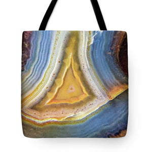 Crystals And Stones Banded Agate 2346 - Tote Bag - Jani Bryson Intuitive Photographer